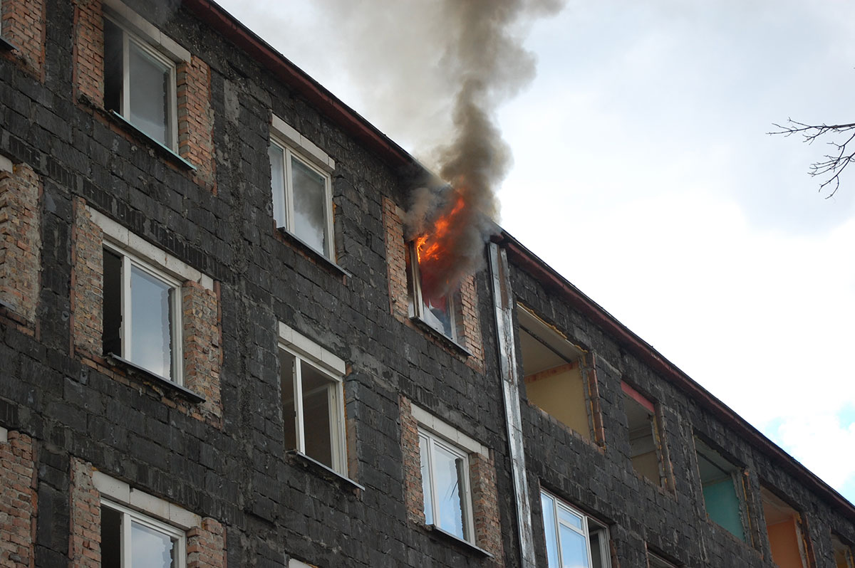 Próba pożarowa w Bytomiu